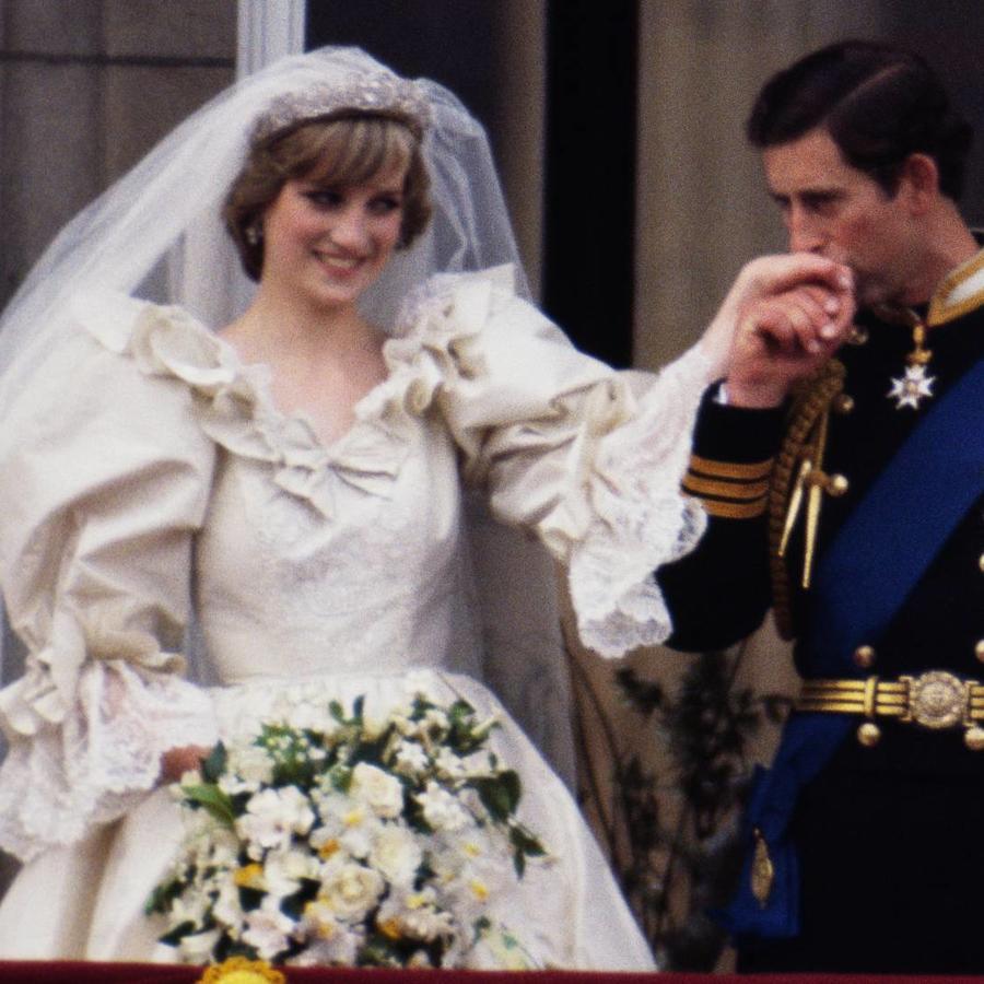 La princesa Diana en el día de su boda con el príncipe Charles