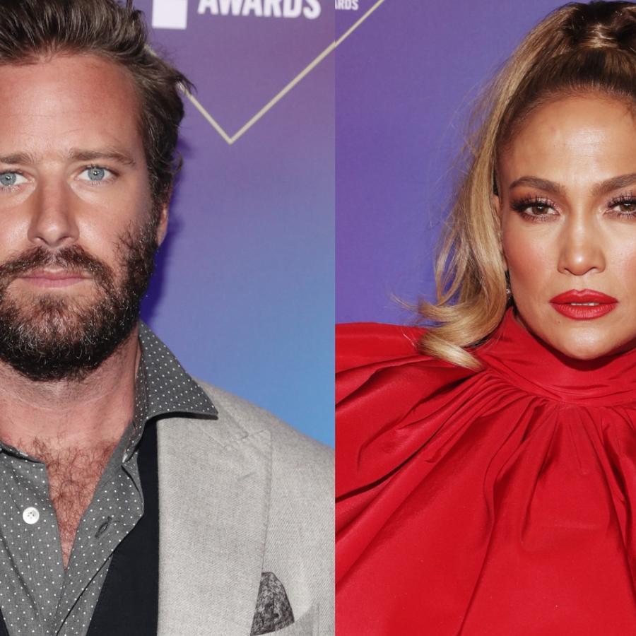 Armie Hammer y Jennifer Lopez en People's Choice Awards 2020