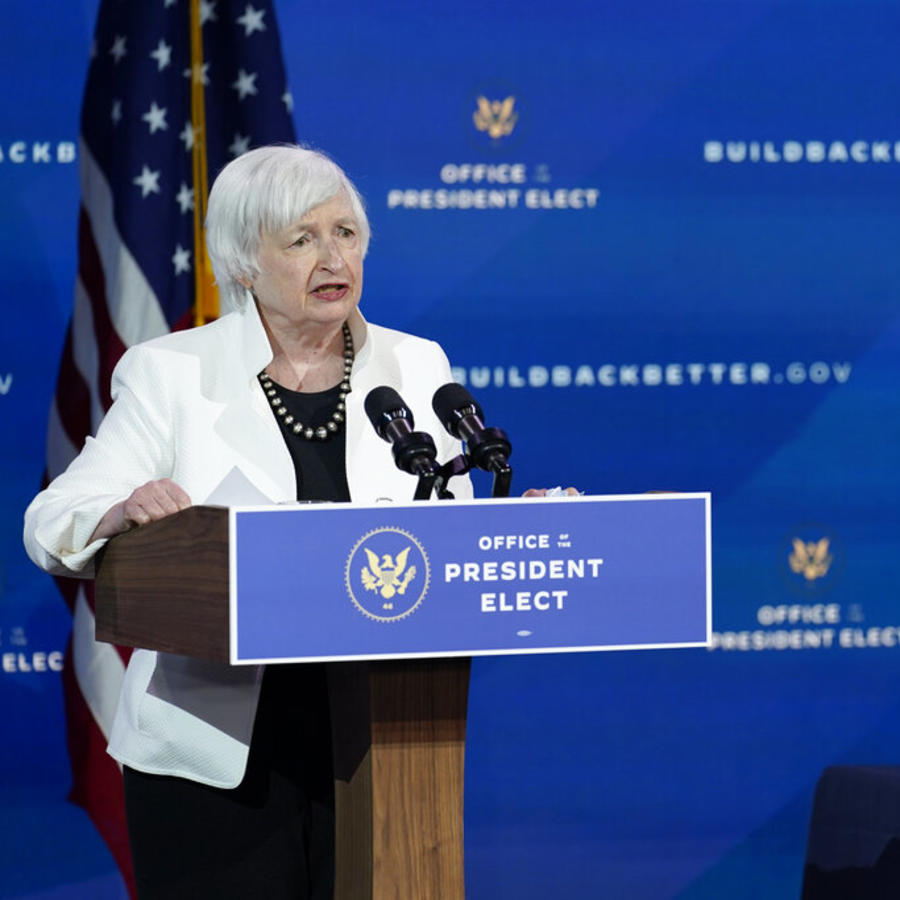 Janet Yellen y Joe Biden