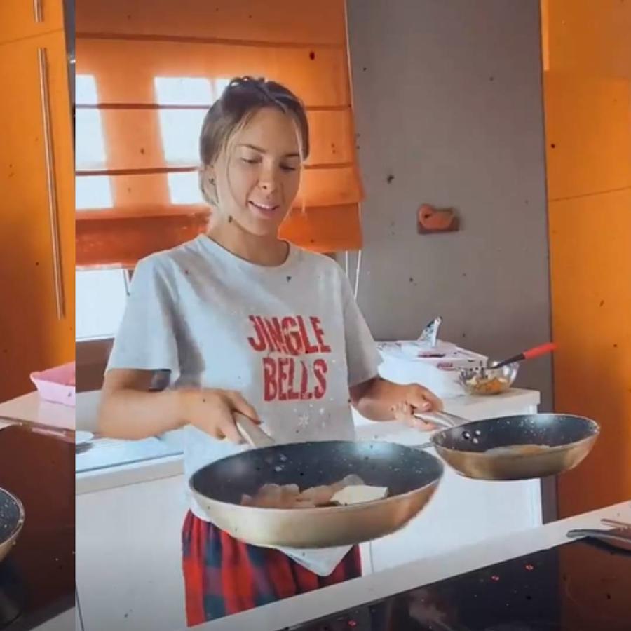 Belinda cocinando para Nodal