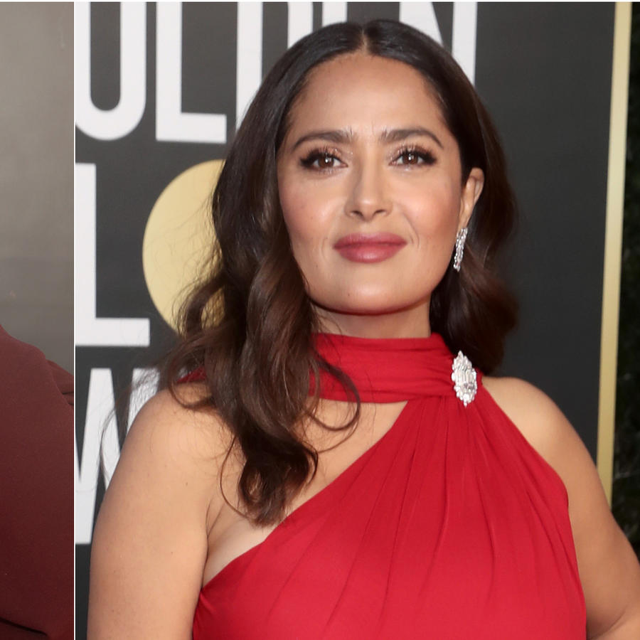 Sofia Carson y Salma Hayek en los Golden Globe Awards 2021