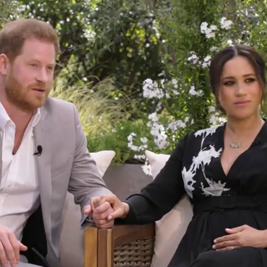Príncipe Harry y Meghan Markle con Oprah