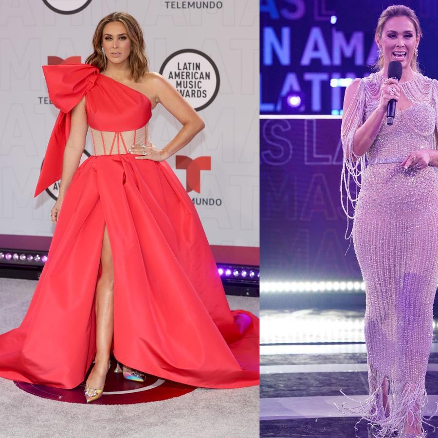 Los vestidos de Jacky Bracamontes en los Latin American Music Awards 2021