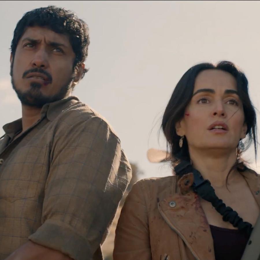Tenoch Huerta y Ana de la Reguera en 'The Forever Purge'