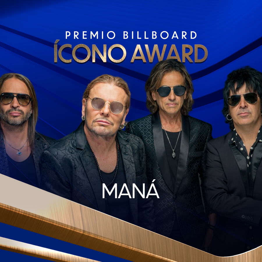 Maná será reconocido con el premio 'Billboard ĺcono'a