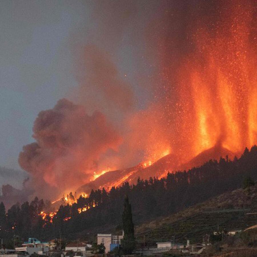 Volcán Canarias erupción