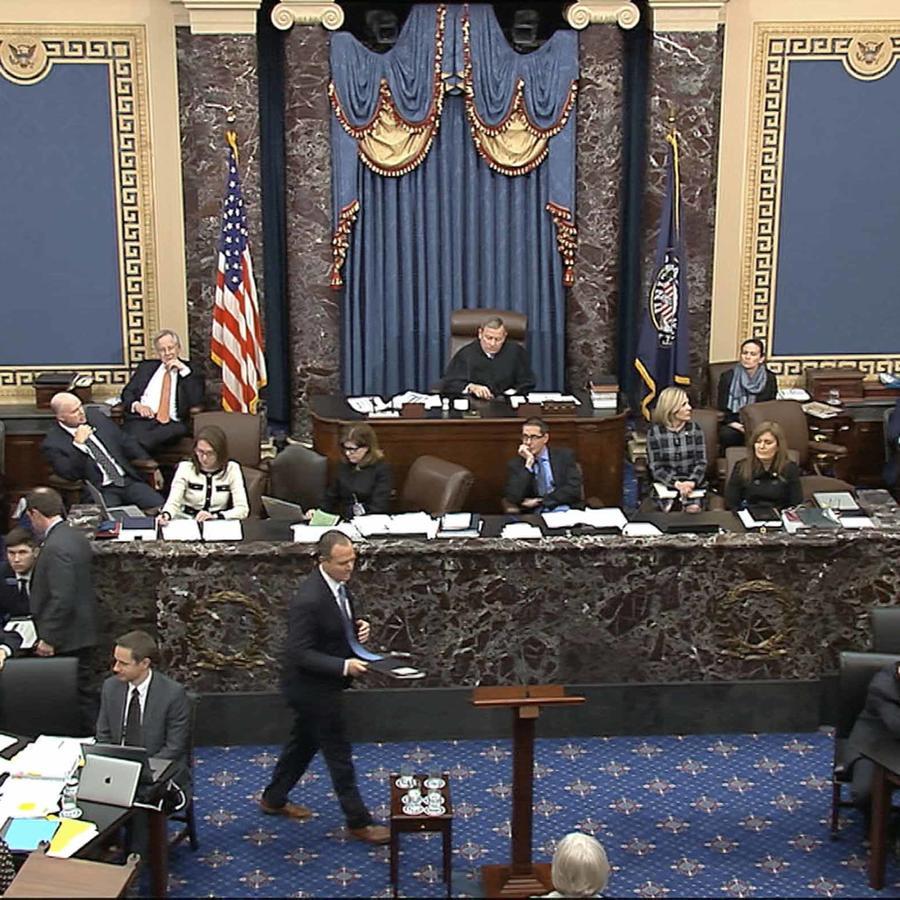 El 'fiscal' de la Cámara de Representants Adam Schiff durante el 'impeachment' a Trump en el Senado