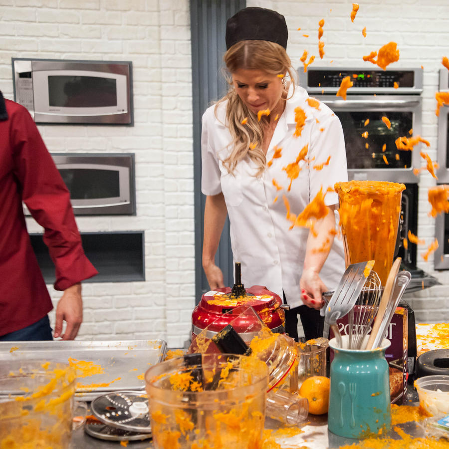 Sissi Fleitas y Don Pedro Rivera en Top Chef Estrellas