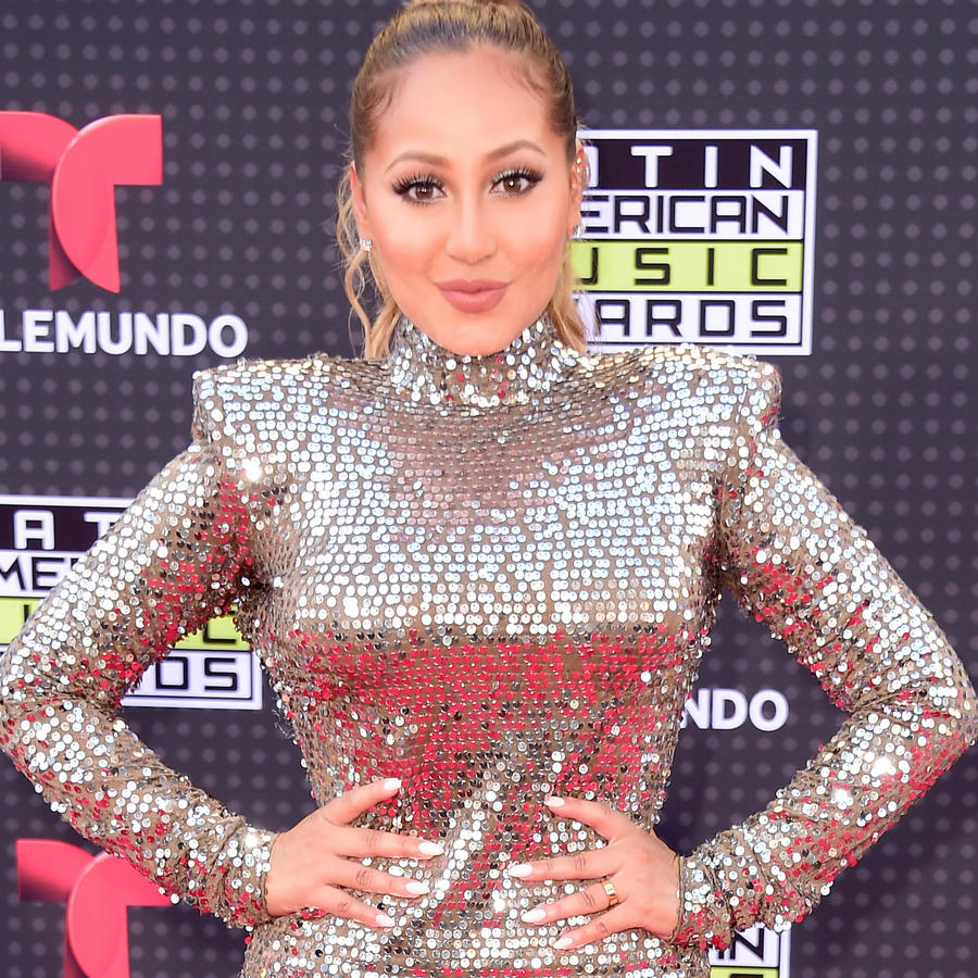Adrienne Bailon on the red carpet of the Latin American Music Awards 2015