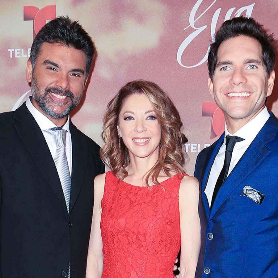 Jorge Luis Pila, Edith González, Arap Bethke en la alfombra roja de Eva La Trailera