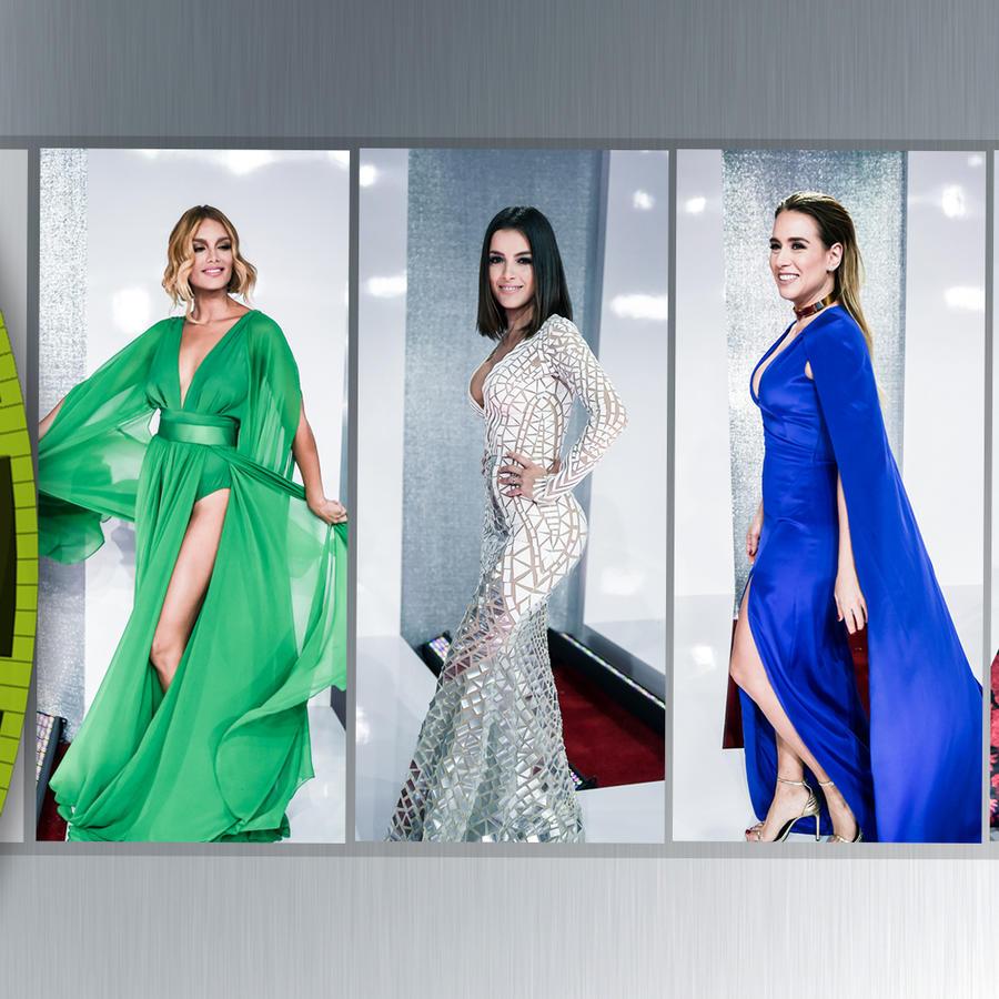 Collage de Zuleyca, Daniela, Erika y Sabrina en la alfombra roja de los Premios Billboard 2016