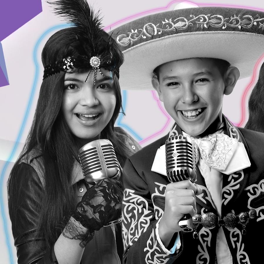 Participantes en blanco y negro en fotos de La Voz Kids 2016