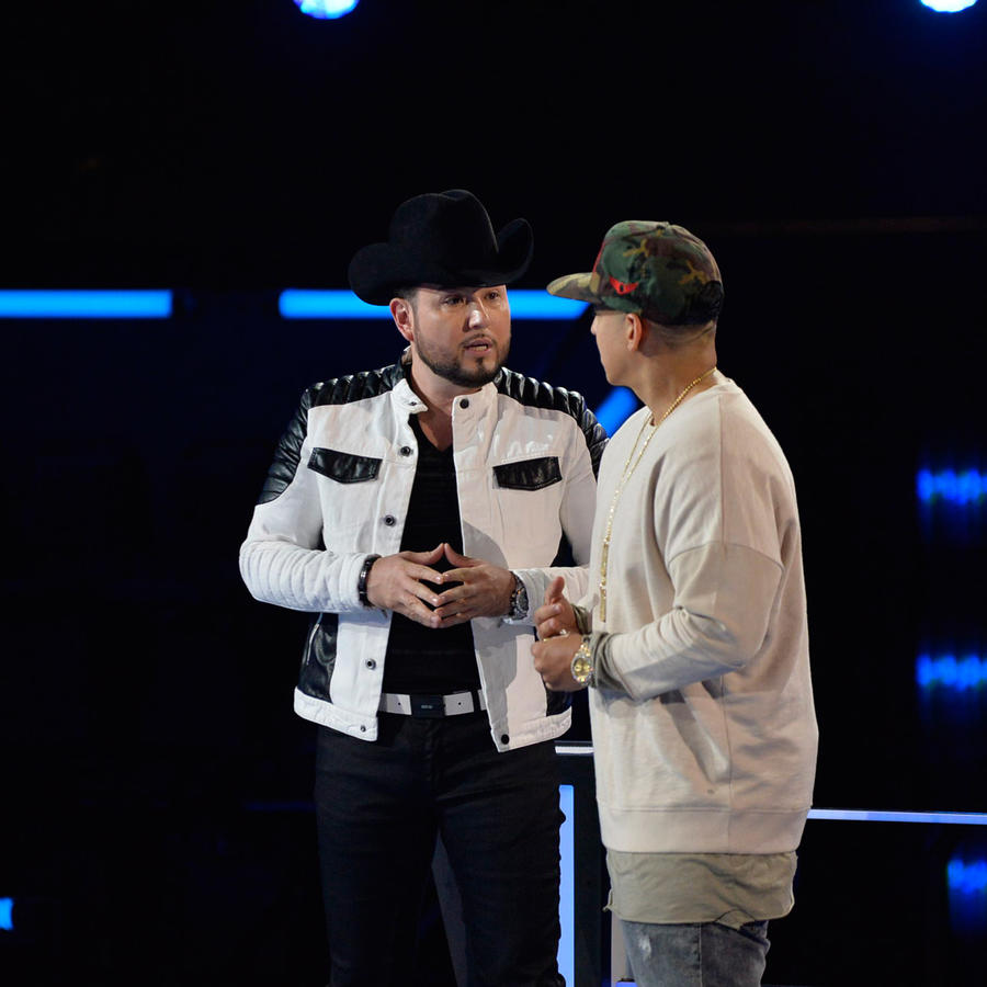 Roberto Tapia y Daddy Yankee ensayo La Voz Kids 2016