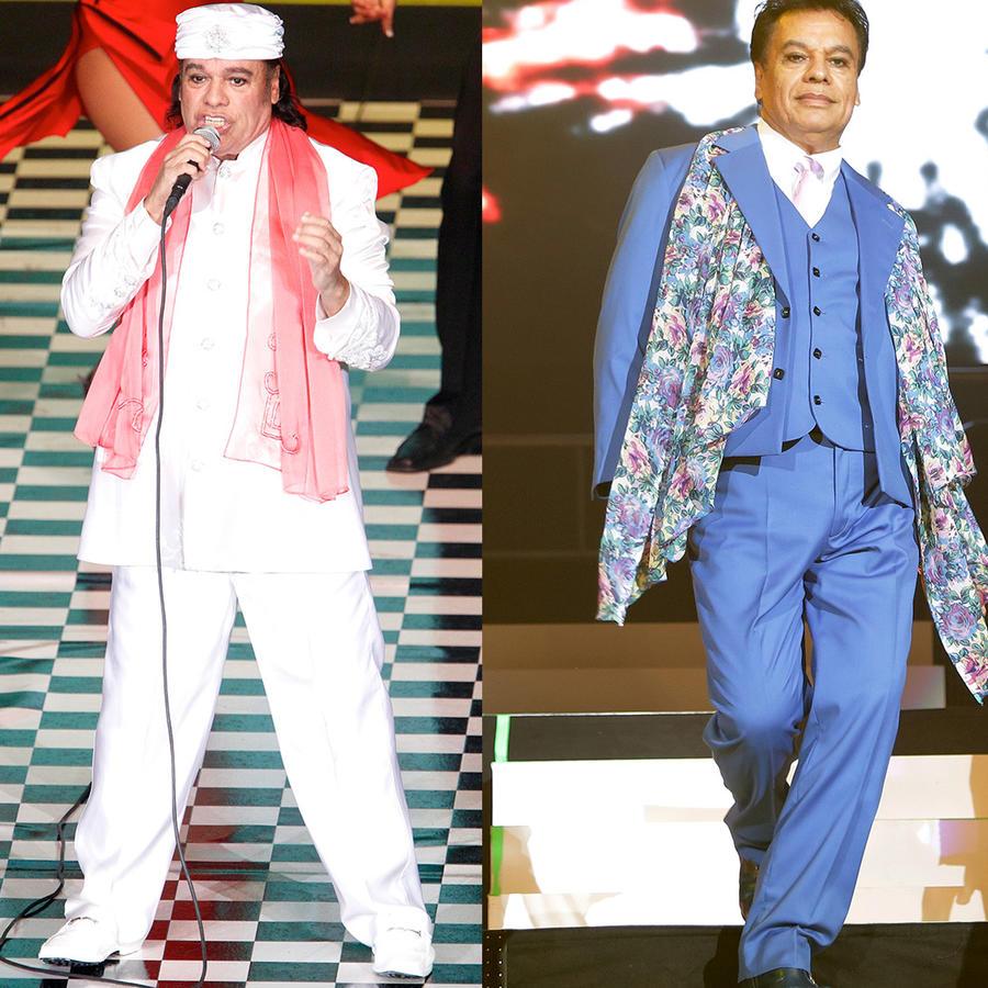 Juan Gabriel en 1991, 2012, y 2014.