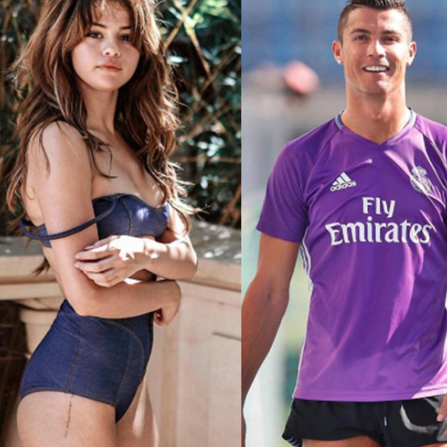 Kim Kardashian Selena Gomez y Cristiano Ronaldo