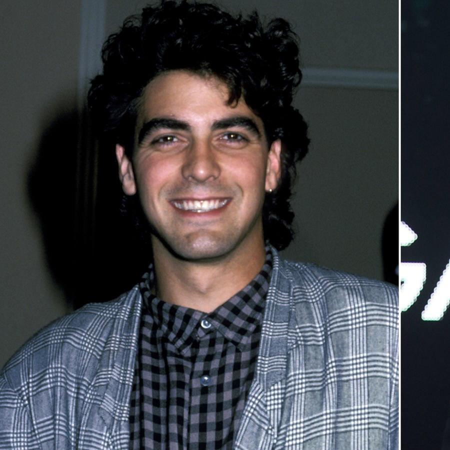 Collage de George Clooney en 1986 y en 2017.