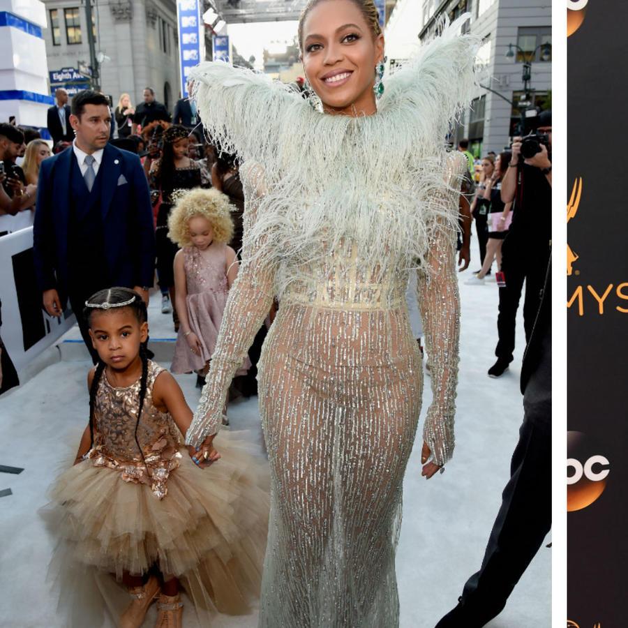 Beyonce con Blue Ivy, y Sofía Vergara con Manolo