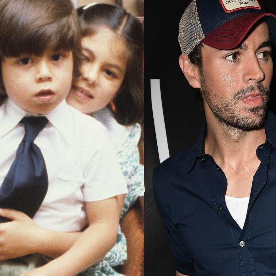 Enrique Iglesias de pequeño y en 2017 en collage.