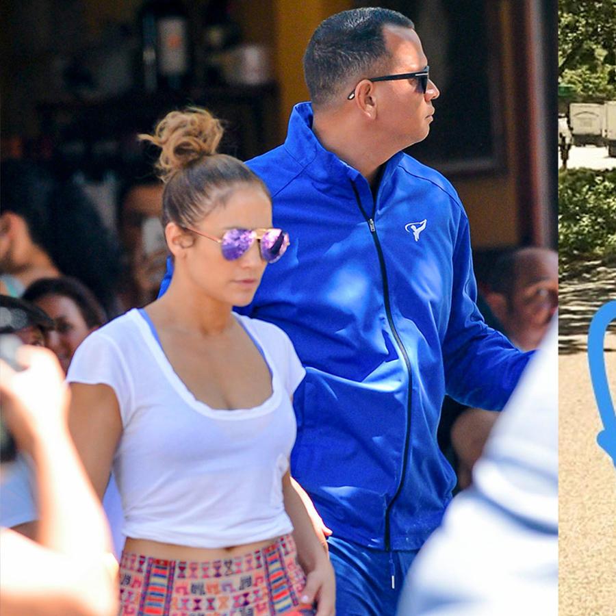 Jennifer Lopez y Alex Rodriguez en bici