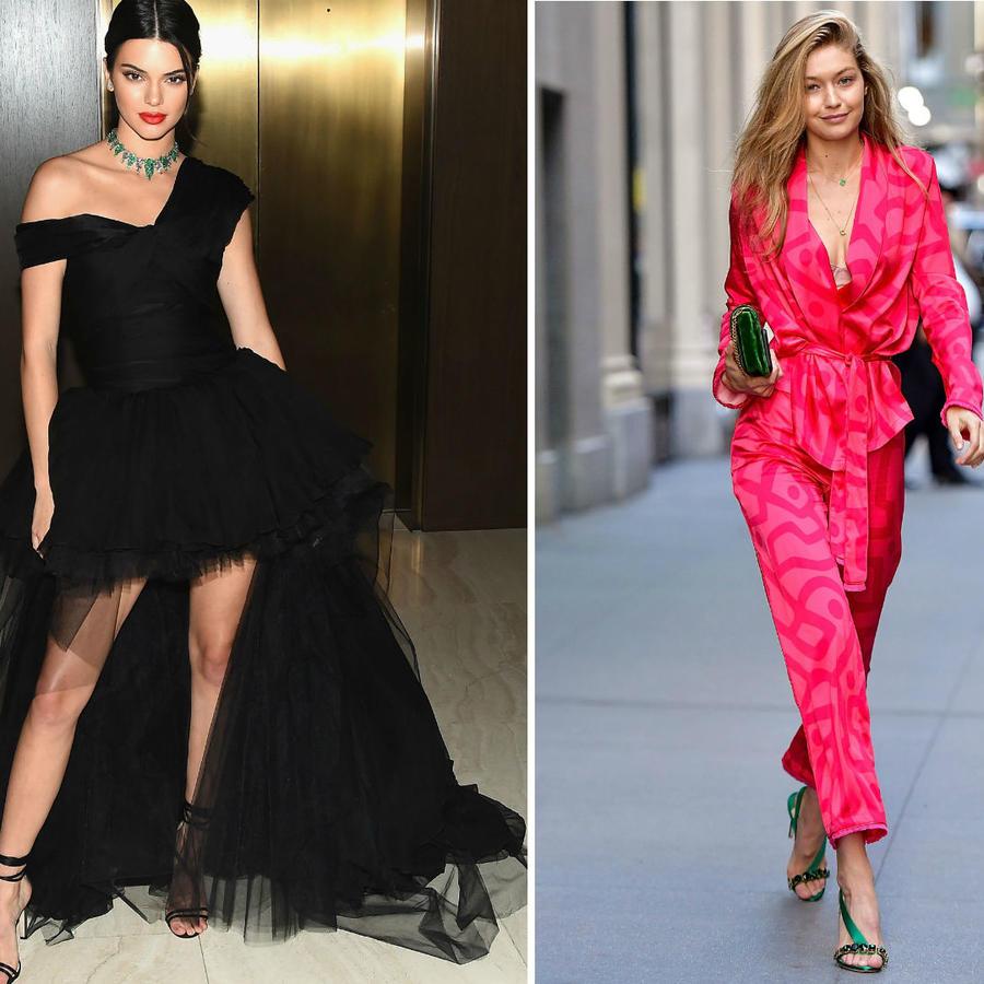 Collage Vanessa Hudgens, Kendall Jenner y Gigi Hadid en la NYFW