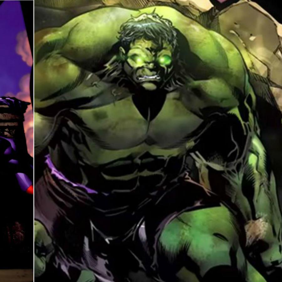 Collage de Hulk y Magneto