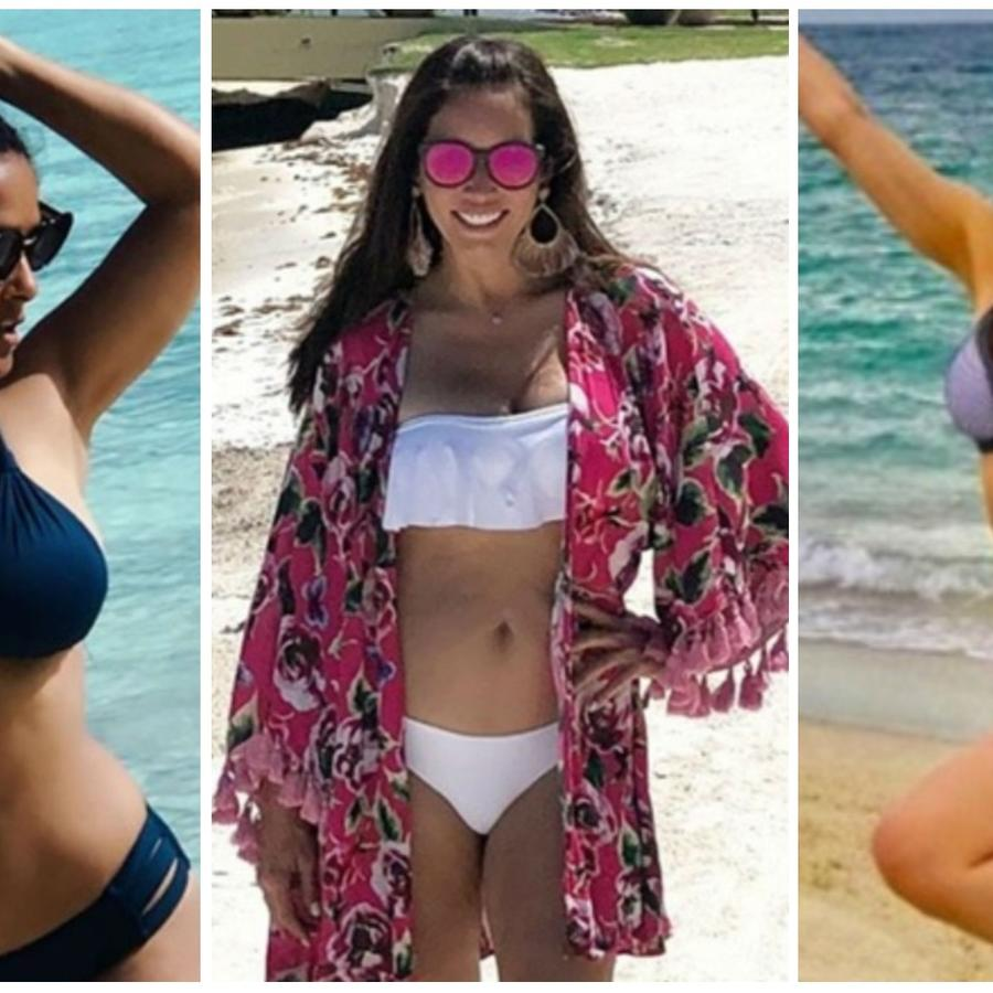 Famosas de 50 años en bikini