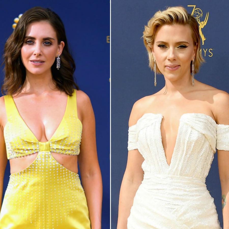 Collage looks sexis de los premios Emmy 2018