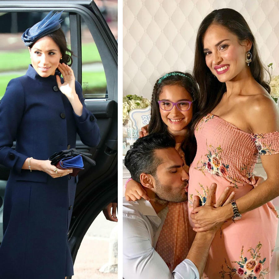 Collage famosas embarazadas