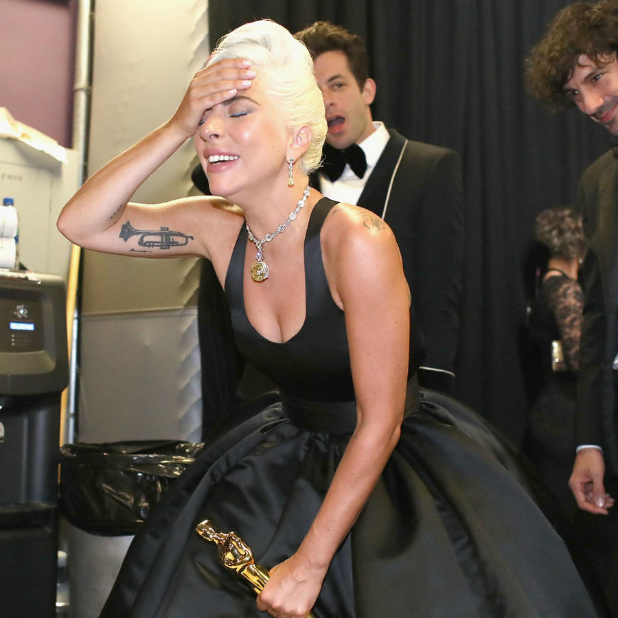 Lady Gaga llorando en los Oscars 2019