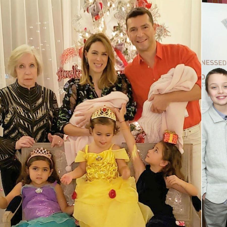 Jacky Bracamontes con su familia; Angelina Jolie con sus hijos