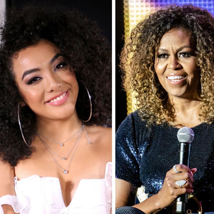 Shakira, Elyfer Torres y Michelle Obama