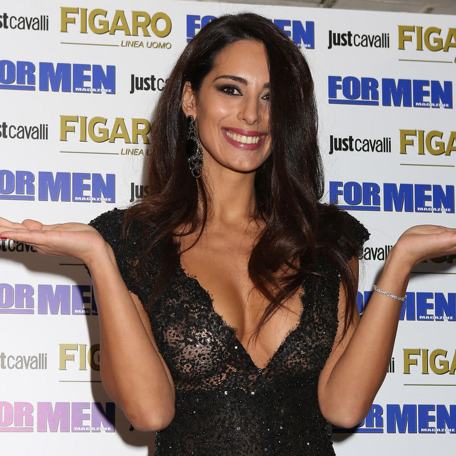 Raffaella Modugno en la presentación del calendario FOR MEN 2017