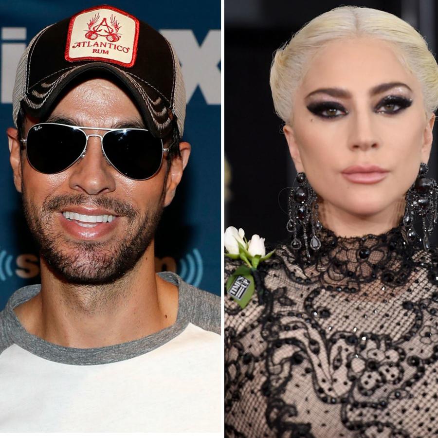 Enrique Iglesias, Lady Gaga y George Clooney