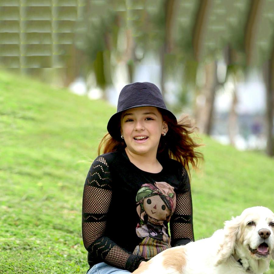 Macarena Oz sonriendo en Los Miserables