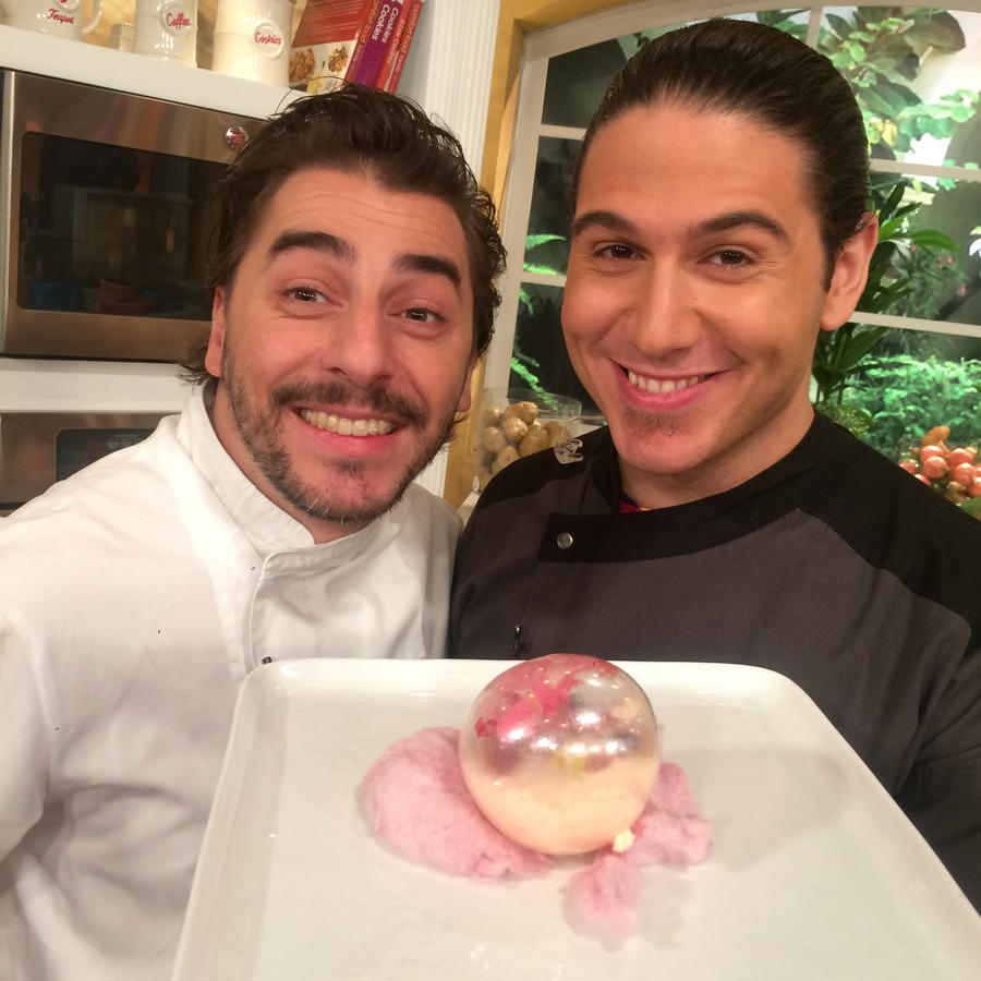 Chef James junto a Jordi Roca