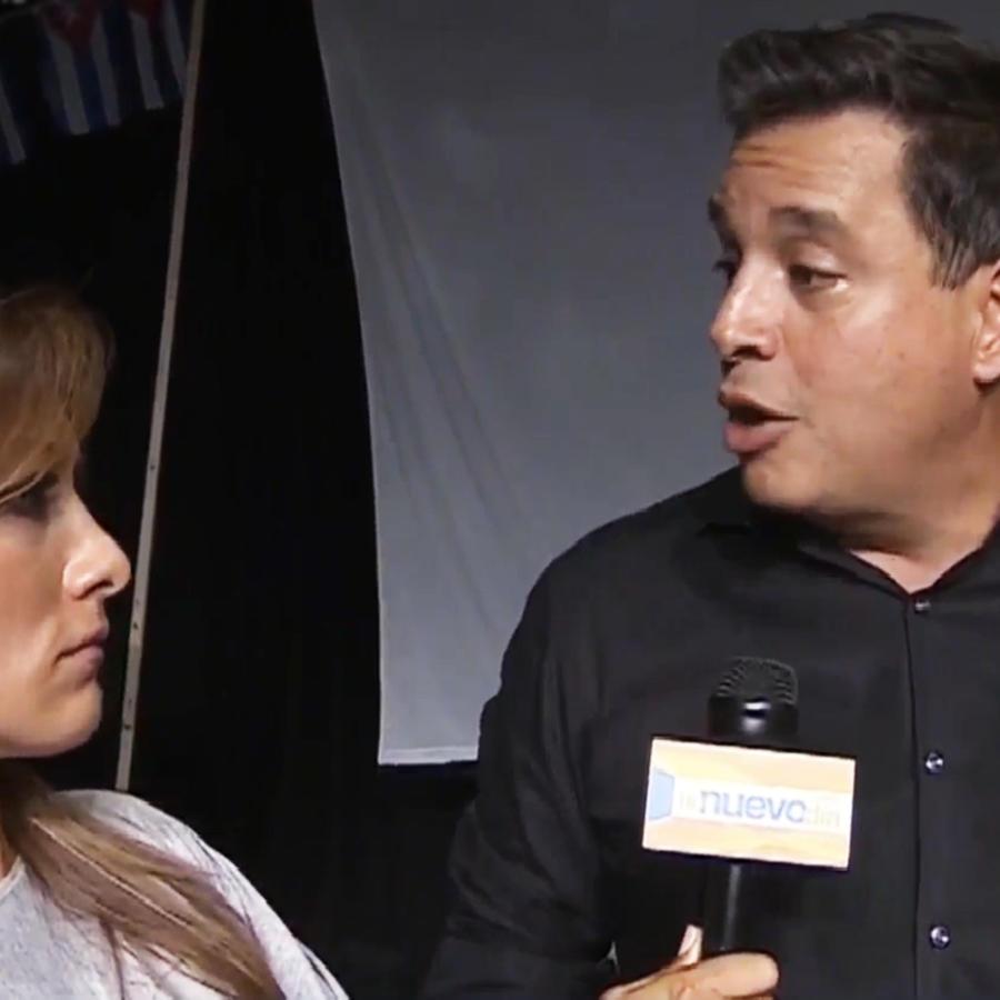 Azucena Cierco junto a Daniel Sarcos