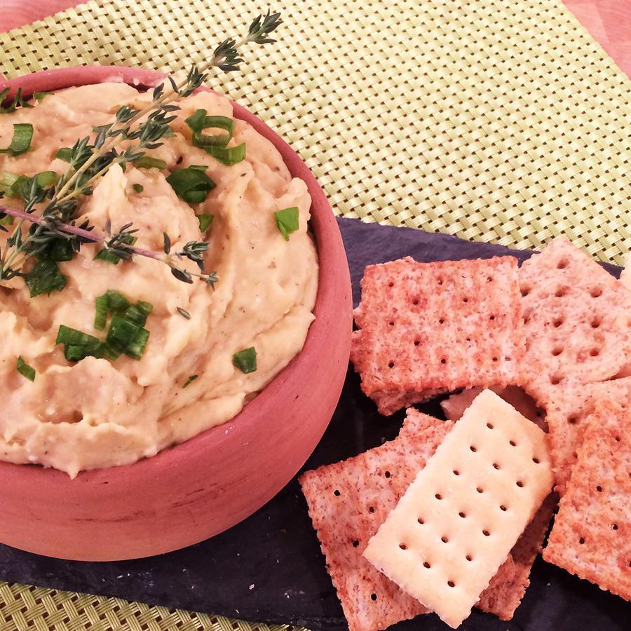 aperitivo de frijoles con queso