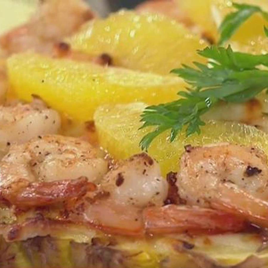 receta de cocina: aprende a cocinar una pina gratinada con camarones