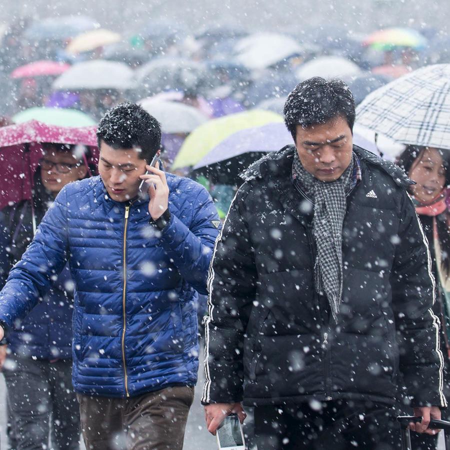 tormenta de nieve en china