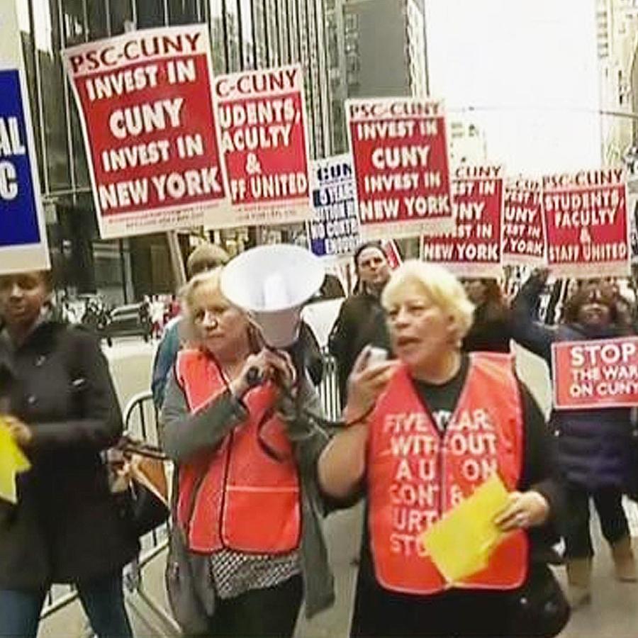 protestas recortes fondos