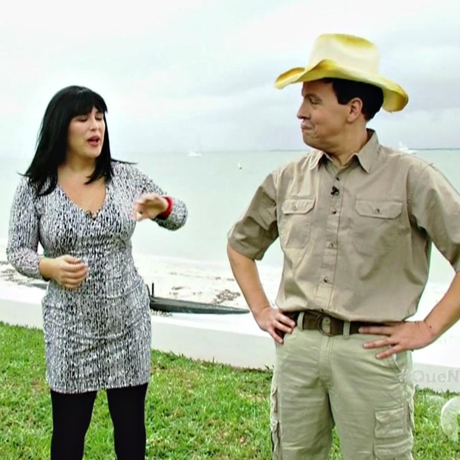 """'Al Flojo Vivo' entrevista al caza cocodrilos más famoso de Miami en """"¡Qué Noche!"""""""