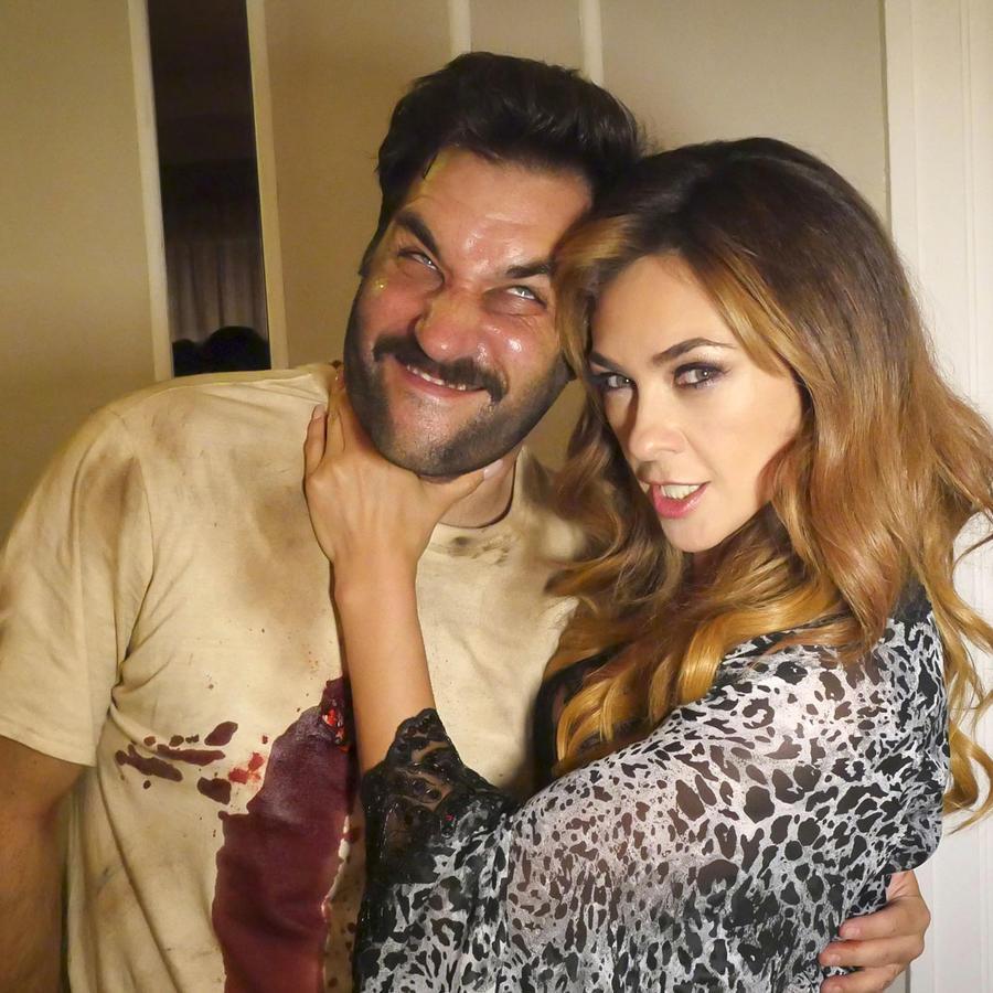 Aracely Arámbula y Manuel Blejerman en La Doña