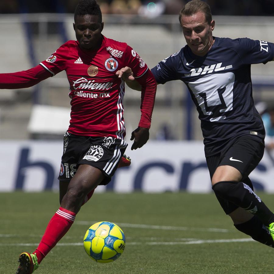 Pumas y Tijuana empatan en partido repleto de goles