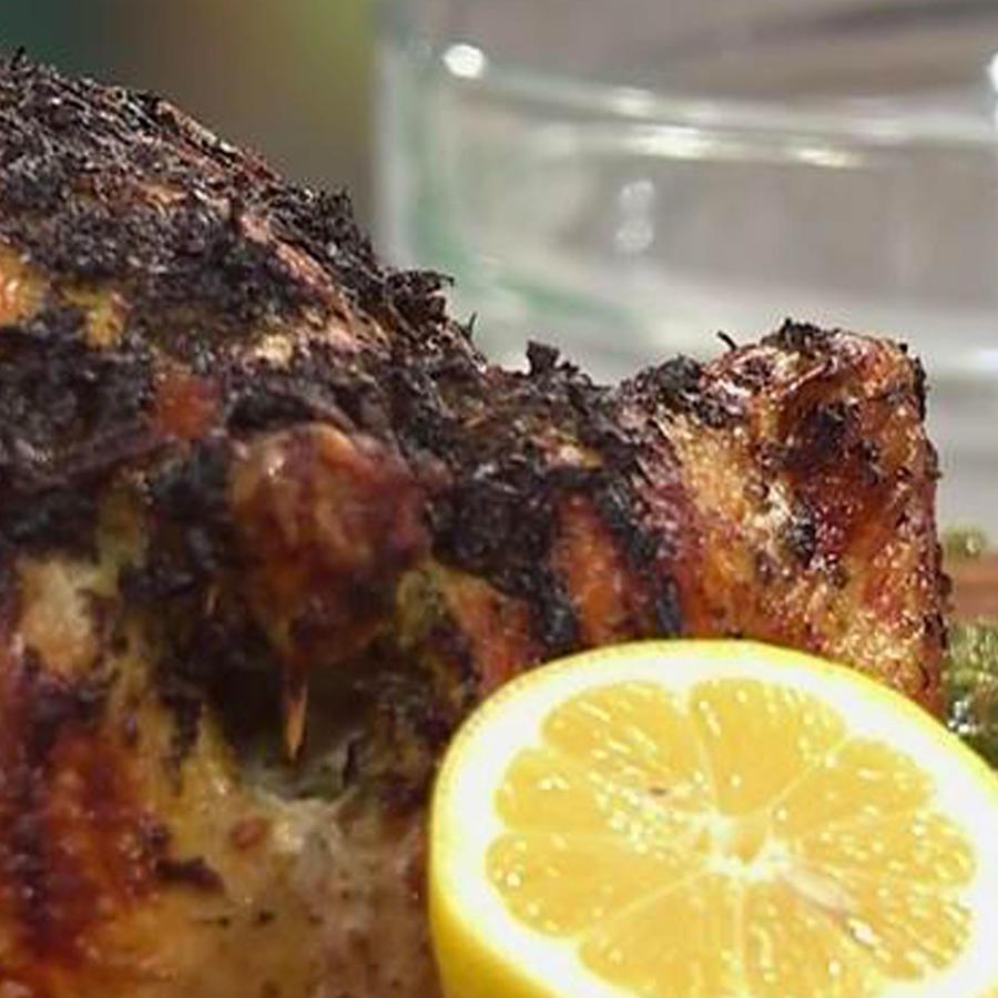 Recetas de cocina: Pollo Rostizado con Salsa de Hierbas
