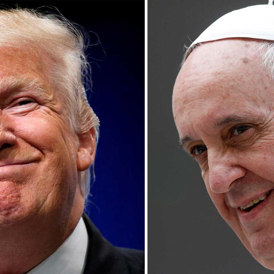 Compuesto fotográfico del presidente de EEUU, Donald Trump y el papa Francisco
