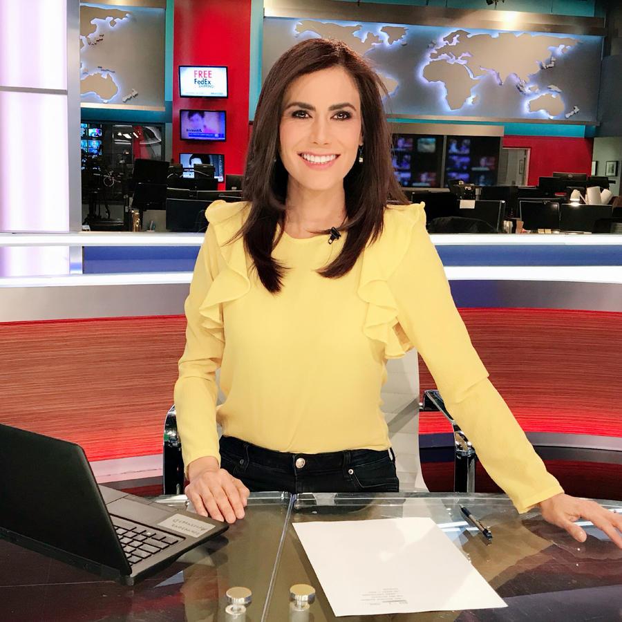 Vanessa Hauc presentando las noticias de Un Nuevo Día