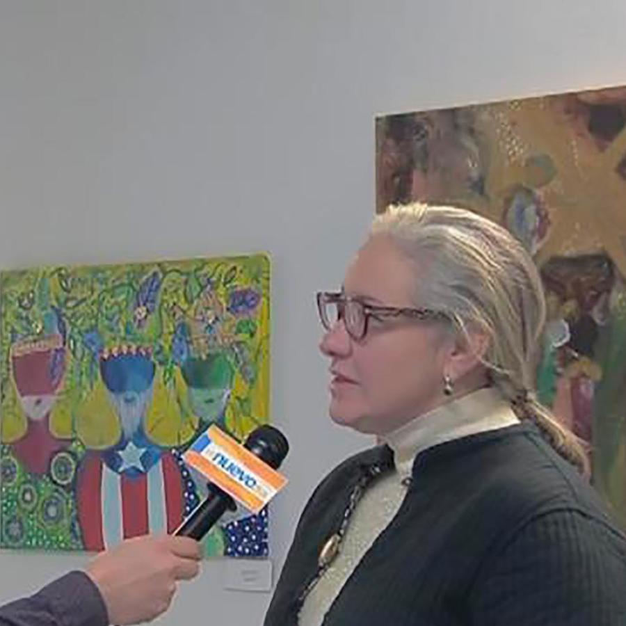 Artistas puertorriqueños presentan sus pinturas en una exposición en Nueva York