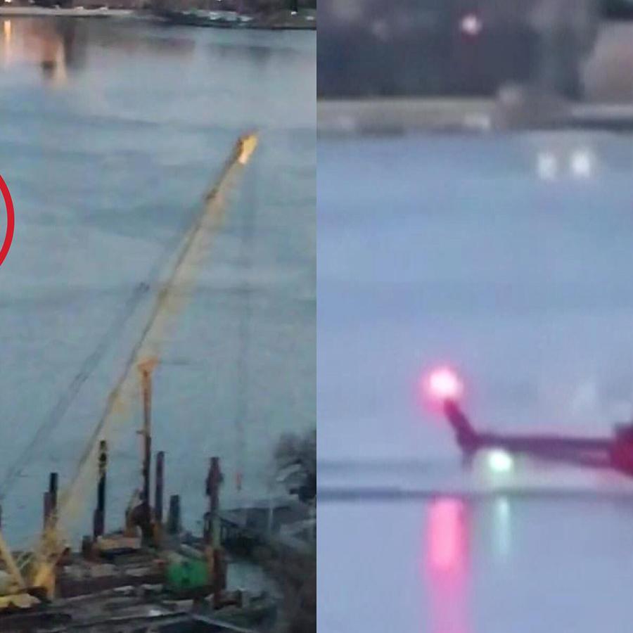 Imagenes del helicóptero en el río que baña Manhattan por el Este.