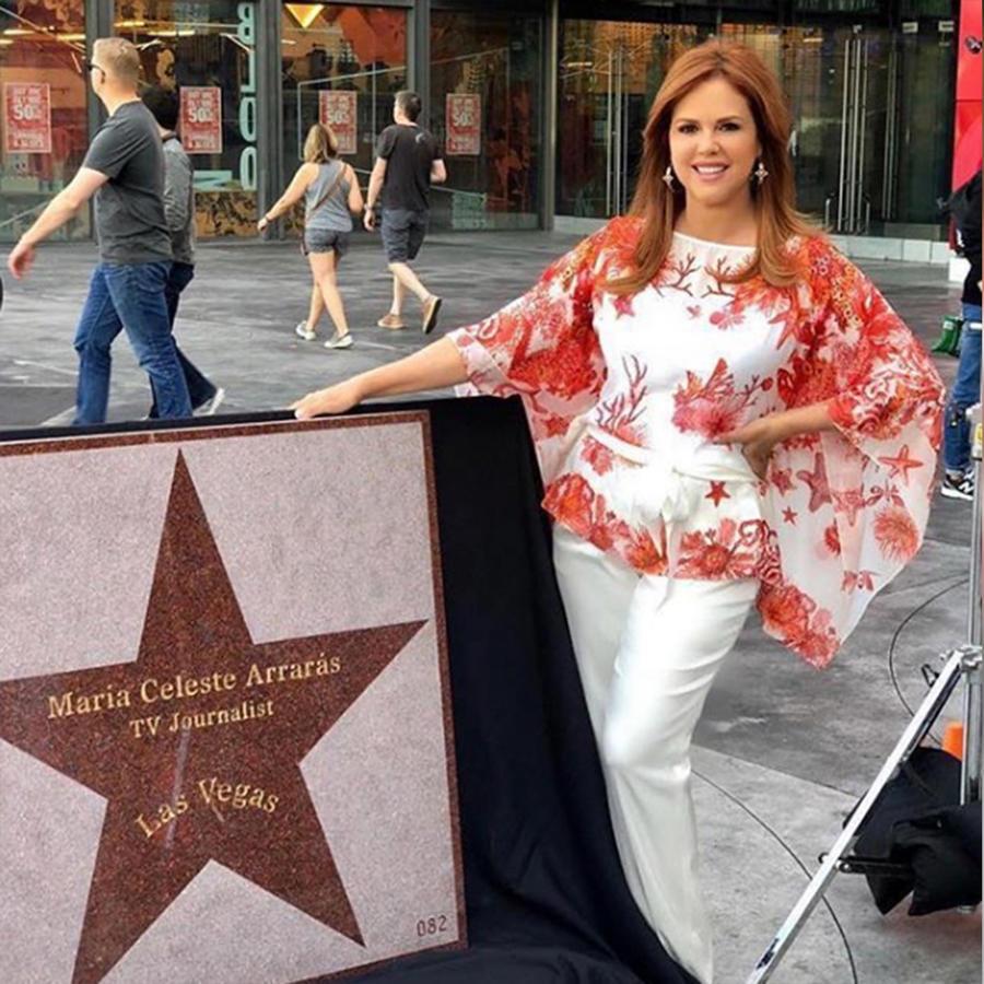 María Celeste Arrarás recibe una estrella en el Paseo de la Fama de Hollywood