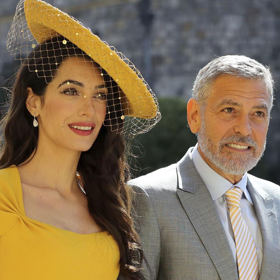 George Clooney y su esposa en la boda real